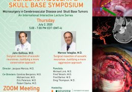 "With the hour, University of Miami Department of Neurosurgery present, ""Microsurgery in CV Disease and Skull Base Tumors"""