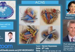 "Today, at 7:30 pm IST, ACNS Residents Webinar, with Michael Lawton MD presenting ""Seven Bypasses"", moderated by Xu Bin MD"