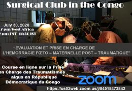 Today, 2 pm, Surgical Club of the Congo presents, LIVE