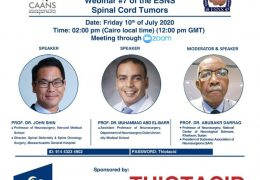"LIVE NOW, ""Spinal Cord Tumors""  by the Egypt Neurosurgery Society"