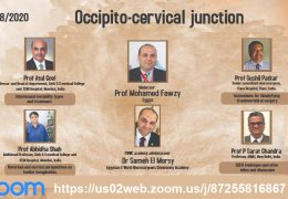 """LIVE, At 5 pm Cairo time, 11 am EST, 8:30 IST, EWNC Academy webinar of Egypt Webcast of """"Occipito-Cervical Junction"""""""