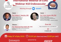 Endovascular Conference Friday Noon GMT, with Robert Spetezler MD of Barrows