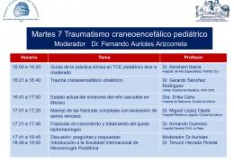 2 Horas y Pico!  Un Congreso Virtual de los Neurocirujanos Pediatricos; hoy, la tema es Trauma
