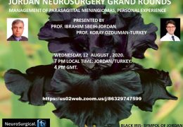 Wednesday, 7 pm Jordan time, Jordan Neurosurgery Grand Rounds, joint presentation with Turkey