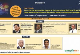 Friday, 5 pm IST, Atul Goel MD, Chandra Deopujari, others, present on Acoustic Neuromas