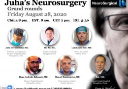 NOW LIVE, Juha's Neurosurgery Grand Rounds, from China, with 6 presentations