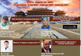 "Friday, 9 pm China, 6:30 pm IST, ""Juha's Neurosurgery Grand Rounds"" from China, with four presentations"