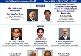 Neuroendoscopy Webinar from India, Sunday 4 pm IST