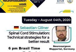 "At 6 pm Brasil time, we  present ""Spinal Cord Stimulation"", by German Neurosurgeon, Sebastian Gillner MD"