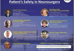 """""""Patient's Safety in Neurosurgery"""", Friday Sept 18, 2 pm Cairo time"""