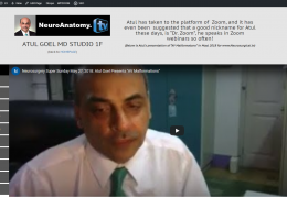 Studio presented to Atul Goel MD, in honor of his Contributions to Neurosurgery Education at www.Neurosurgical.tv