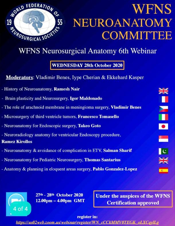 WFNS脳神経外科組織によるこの神経解剖学会議を英語から日本語に翻訳しています: (Translation into Japanese of WFNS Neuroanatomy Conference)