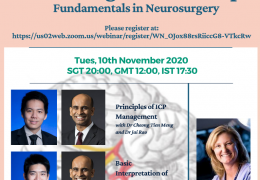 Young Neurosurgeon Webinar, Tuesday, Nov 10, 2020