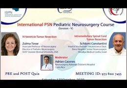 "was LIVE, from the Pakistan Neurosurgery Society, ""International PSN Pediatric Neurosurgery Course"