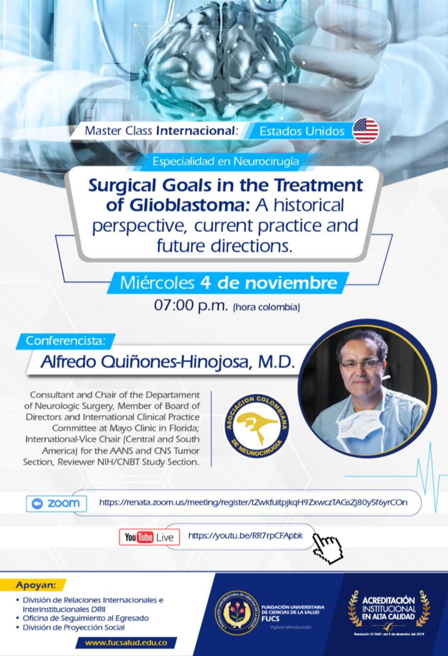 Albert Quinones speaks on Gliomas, Wednesday,  Nov 4, 2020