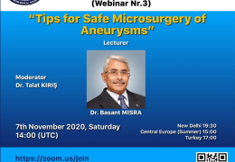 """Saturday, 7:30 pm IST, Basand MISRA MD, presents, """"Tips for Safe Microsurgery of Aneurysms"""" LIVE"""