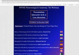 (WAS) LIVE NOW, WFNS Neuroanatomy Webcast