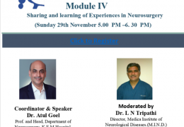 Atul Goel: The Spine Revolution. The Future of Spine Surgery, 5 pm IST Sunday, 29th of November
