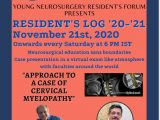 "Saturday, New Resident's Group, ""Neurosurgery Log"" at 6:00 pm IST; Resident Teaching for Residents!"