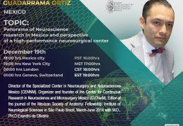 "in 30 Minutes, Dr. Parmenides Guadarrama Ortiz presents, ""Future of Neuroscience Research in Mexico"""