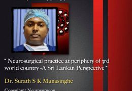 Sunday, Sri Lanka Neurosurgery Grand Rounds, 5 pm IST, with