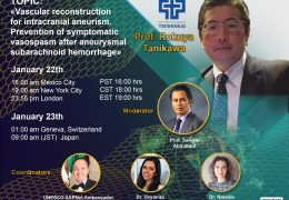 "UNESCO presenta Prof Rokuya Tanikawa de Japon, que presenta ""Vascular Reconstruction for Intracranial Hemorrhage"""