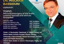 "In a few HOURS……FRIDAY AT 5 pm EST, UNESCO/Walter Dandy present ""Microneurosurgery of the Brain"", LIVE on Neurosurgical TV"