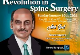 """Atul Goel MD, presented, """"Revolution in Spine Surgery"""", LIVE, translated into Japanese for his followers there"""