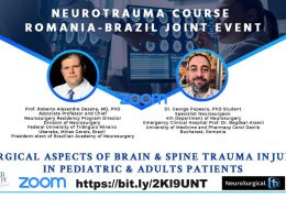 LIVE, at 11 am EST, a 4 HOUR Neuro-trauma Course, from Walter Dandy of Romania