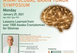 "LIVE, Monday, 5 pm EST, Miami Neurosurgery presents Mitchel Berger MD, ""Lessons Learned from over 1500 Awake Craniotomies"""