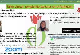 """AHORA VIVO, Sabado 10 am tiempo Ecuador, """"Rompiendo Barreras en el Parkinsonism"""", VIVO"""