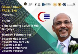 "LIVE NOW……,Salman Sharif MD of Pakistan, presents ""The Learning Curve in MIS Surgery"" at UNESCO/Walter Dandy collaboration"