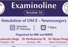 In a few minutes…………………Simulation of OSCE of Neurosurgery, from India LIVE ……………………..