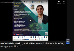 "VIVO de Ciudad de Mexico, Andrei Mucanu MD of Rumania NOW, ""Neurosurgery on Fire…."""