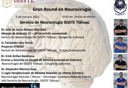 """Charlas grabadas de ………de Servicio de Neurocirugia del ISSSTE Tlahuac, """"Gran Round de Neurocirugia"""", con 4 presentaciones de 7 Febrero"""