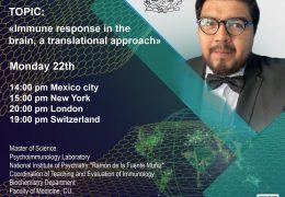"""En collaboracion entre UNESCO y Walter Dandy, presenta AHORA, """"Immune Response in the Brain"""", by Dr. Jose Luis Maldonado Garcia"""