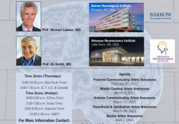 "Michael Lawton MD, Ali Krisht present SERIES Live, Online next Thursday, March 11, 6 pm CST, theme: ""Archieving Mastery in Aneurysm Microneurosurgery"""