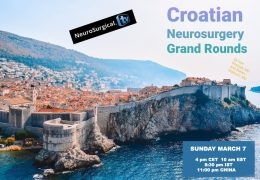 "NOW LIVE LIVE LIVE, ""the First Croatian Neurosurgery Grand Rounds"", with Ivan Bosnjak MD presenting ""Newest Modalities in Treatment of Glioblastoma"""