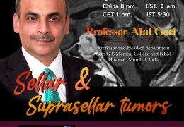 "In a few Hours…………Juha's China Neurosurgery Grand Rounds, with Atul Goel, presenting, ""Sellar and Suprasellar Tumors"""