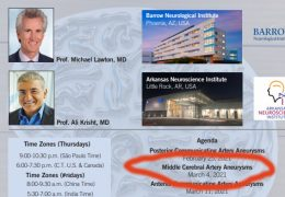 """Tonight, at 7 pm EST, 6 pm CST, """"Achieving Mastery in Aneurysm Microneurosurgery"""", with Prof Ali Krisht, and Prof. Michael Lawton LIVE"""