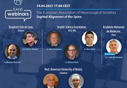 """Tuesday 5 pm CET, 11 am EST,  April 14, EANS presents """"Sagittal Alignment of the Spine"""""""