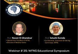 LIVE….at 8 am EST, 2 pm Cairo time…………….WFNS Educational Symposium of Pediatric Neurosurgery Friday, April 23, 2 to 5  pm Cairo Time