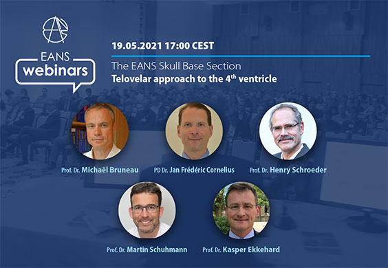 """Europe's EANS Webcast on Wednesday, May 19th, at 5 pm CEST: """"Telovelar Approach to the 4th Ventricle"""""""