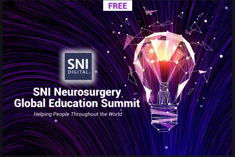 SNI Neurosurgery Global Education Summit 06/05/2021 June 5 – 6, 2021  Free virtual interactive event