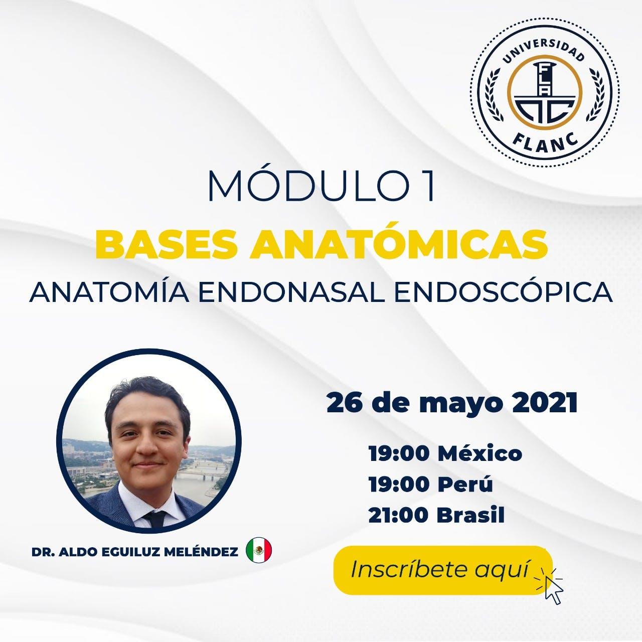 Se acabo, esta grabado AQUI…..Modulo 1, Bases Anatomicas: Anatomia Endonasal Endoscopica, por Aldo Eguiluz Melendez MD