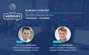 """Wednesday, Sept 22nd, 5 pm CEST, """"Cavernoma: An Update"""", from the EANS Vascular Section"""