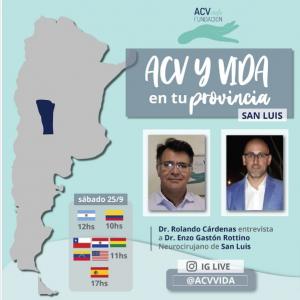 "Saturday, 11 am EST, noon Argentina time, ""ACV y VIDA"", televising an interveiw with Dr. Enzo Gaston Rottino, Neurosurgeon"